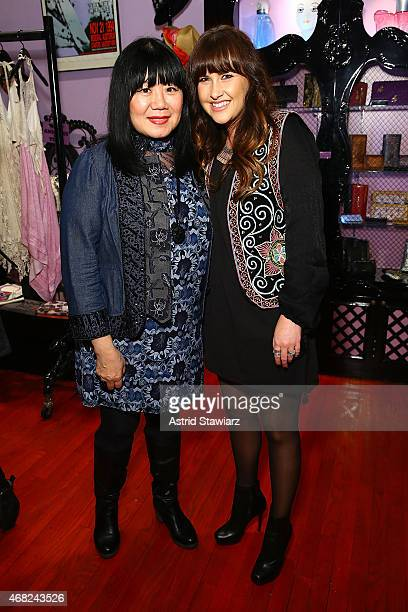 Fashion designer Anna Sui and Design Director at O'Neill Rachael Hill attend the Anna Sui for O'Neill Collection launch party held at Anna Sui Soho...