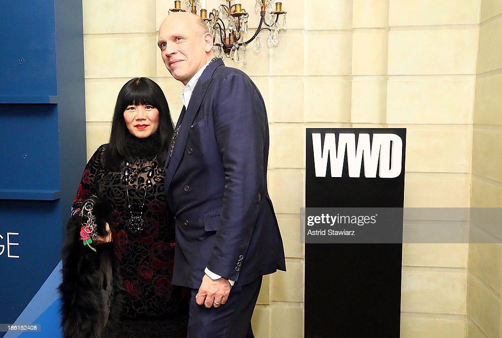 Fashion designer Anna Sui and Editor in Chief of Style.com, Dirk Standen attend the 2013 WWD Apparel And Retail CEO Summit Dinner at The Pierre Hotel on October 28, 2013 in New York City.