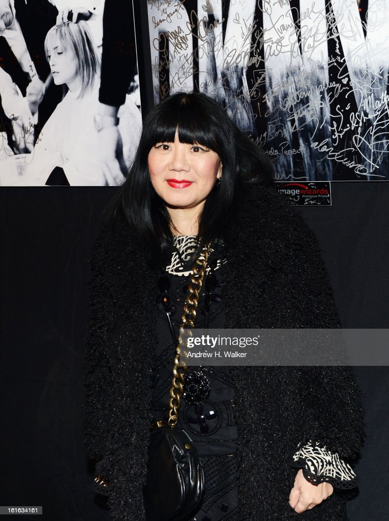 Fashion designer Anna Sui attends Fall 2013 Mercedes-Benz Fashion Week at Lincoln Center for the Performing Arts on February 13, 2013 in New York City.