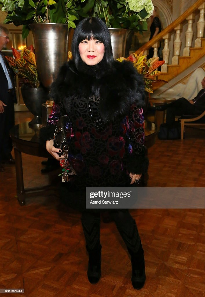 Fashion designer Anna Sui attends the 2013 WWD Apparel And Retail CEO Summit Dinner at The Pierre Hotel on October 28, 2013 in New York City.