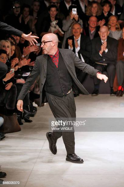 Fashion designer Antonio Marras walks the runway at the Antonio Marras Ready to Wear fashion show during Milan Fashion Week Fall/Winter 2017/18 on...