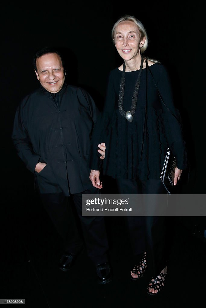 Fashion Designer <a gi-track='captionPersonalityLinkClicked' href=/galleries/search?phrase=Azzedine+Alaia+-+Fashion+Designer&family=editorial&specificpeople=8019273 ng-click='$event.stopPropagation()'>Azzedine Alaia</a> and <a gi-track='captionPersonalityLinkClicked' href=/galleries/search?phrase=Carla+Sozzani&family=editorial&specificpeople=884879 ng-click='$event.stopPropagation()'>Carla Sozzani</a> attend the Saint Laurent Menswear Spring/Summer 2016 show as part of Paris Fashion Week on June 28, 2015 in Paris, France.