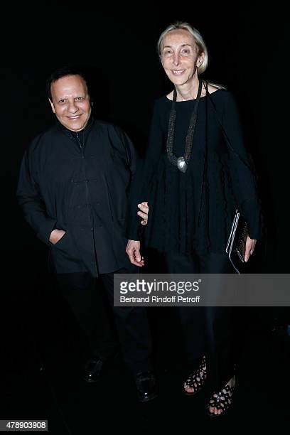 Fashion Designer Azzedine Alaia and Carla Sozzani attend the Saint Laurent Menswear Spring/Summer 2016 show as part of Paris Fashion Week on June 28...