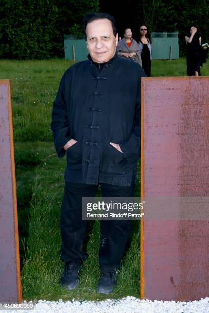 Fashion designer Azzedine Alaia attends the private tour and dinner of the Lee Ufan's Exhibition at Chateau de Versailles on June 15 2014 in...