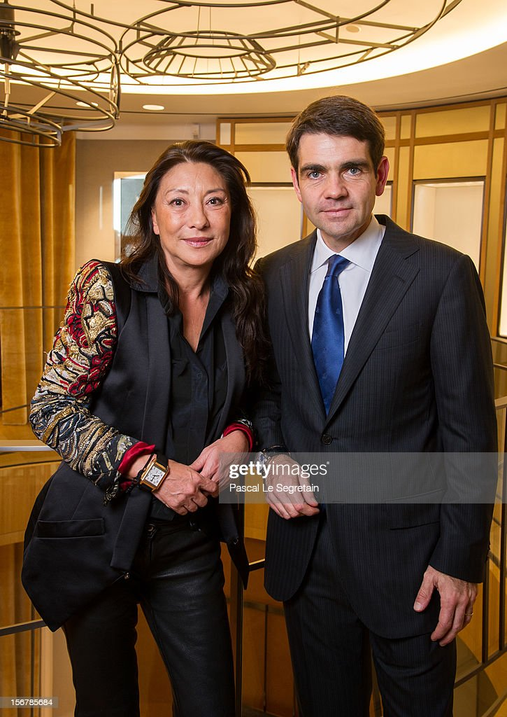 Fashion designer Barbara Bui and Jerome Lambert, CEO of Jaeger-LeCoultre attend Jaeger-LeCoultre Vendome Boutique Opening at Jaeger-LeCoultre Boutique on November 20, 2012 in Paris, France.