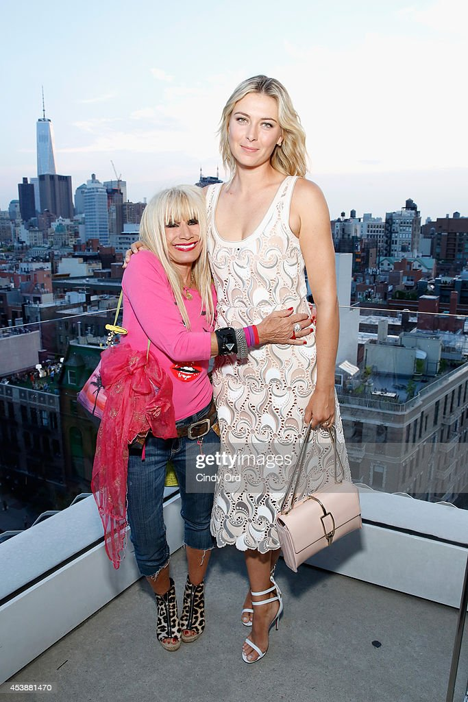 Fashion designer <a gi-track='captionPersonalityLinkClicked' href=/galleries/search?phrase=Betsey+Johnson+-+Fashion+Designer&family=editorial&specificpeople=4205426 ng-click='$event.stopPropagation()'>Betsey Johnson</a> (L) and professional tennis player <a gi-track='captionPersonalityLinkClicked' href=/galleries/search?phrase=Maria+Sharapova&family=editorial&specificpeople=157600 ng-click='$event.stopPropagation()'>Maria Sharapova</a> attend the CFDA Celebrates Fashion Targets Breast Cancer 20th Anniversary event with <a gi-track='captionPersonalityLinkClicked' href=/galleries/search?phrase=Maria+Sharapova&family=editorial&specificpeople=157600 ng-click='$event.stopPropagation()'>Maria Sharapova</a>, presented by Porsche at The New Museum on August 20, 2014 in New York City.
