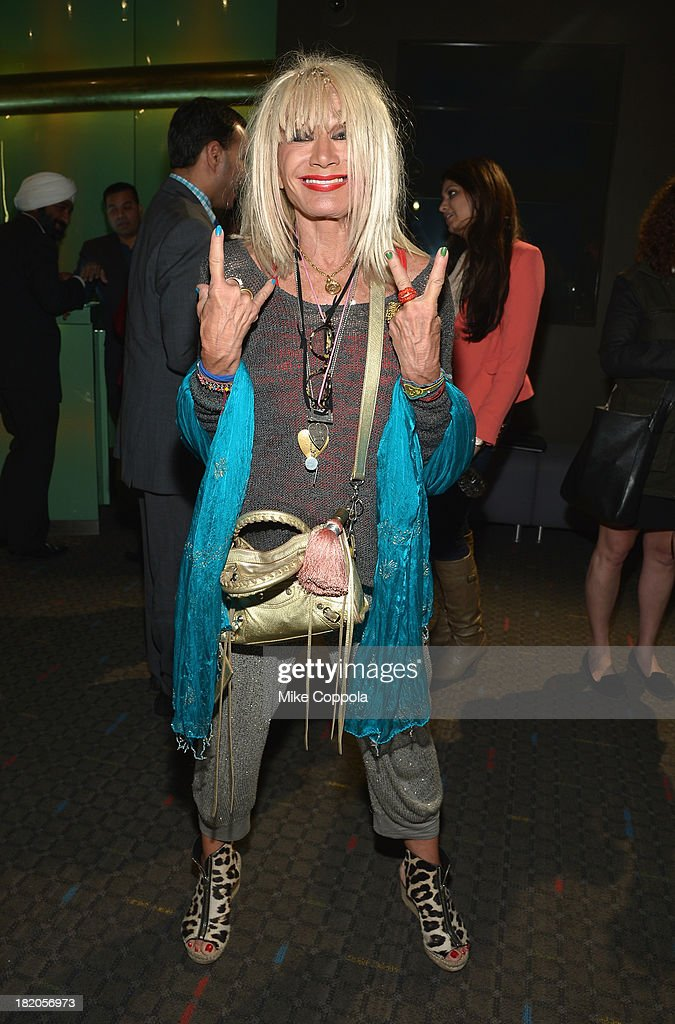 Fashion designer Betsey Johnson attends the 'Ticket 2 Bollywood: Cinema Beyond Boundaries' Opening Night Screening at SVA Theater on September 27, 2013 in New York City.