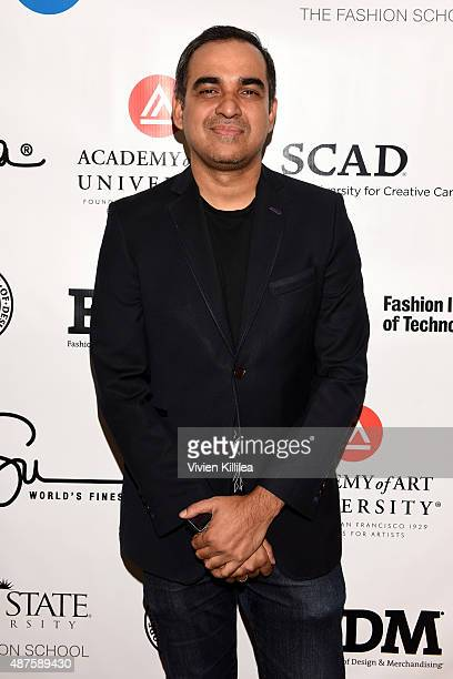 Fashion designer Bibhu Mohapatra poses backstage at the Supima Design Competition fashion show during Spring 2016 New York Fashion Week The Shows at...