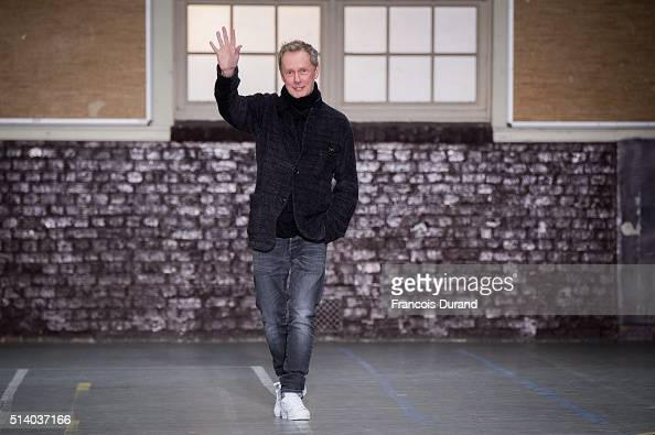 Fashion designer Bill Gaytten acknowledges the applause of the public after the John Galliano show as part of the Paris Fashion Week Womenswear...