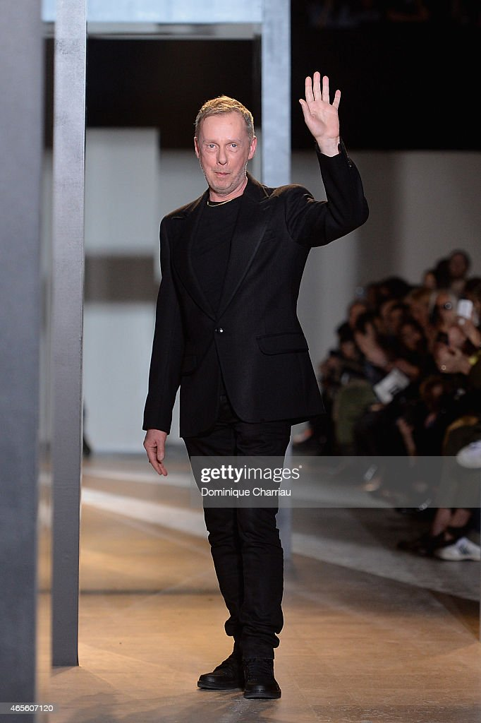 Fashion designer Bill Gaytten acknowledges the audience after the John Galliano show as part of the Paris Fashion Week Womenswear Fall/Winter...