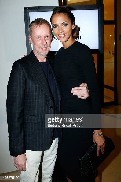 Fashion designer Bill Gaytten and Actress Noemie Lenoir pose backstage after the John Galliano show as part of the Paris Fashion Week Womenswear...