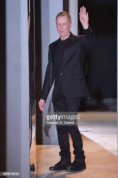 Fashion designer Bill Gaytten appears on the runway during the John Galliano show as part of the Paris Fashion Week Womenswear Fall/Winter 2015/2016...