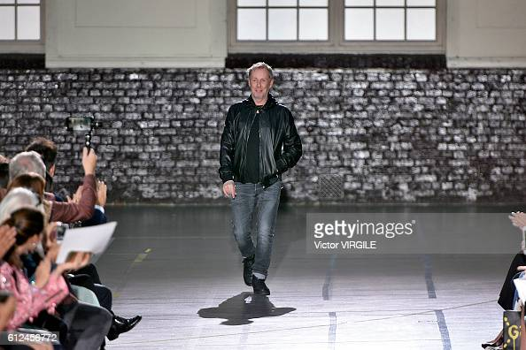 Fashion designer Bill Gaytten walks the runway during the John Galliano Ready to Wear fashion show as part of the Paris Fashion Week Womenswear...