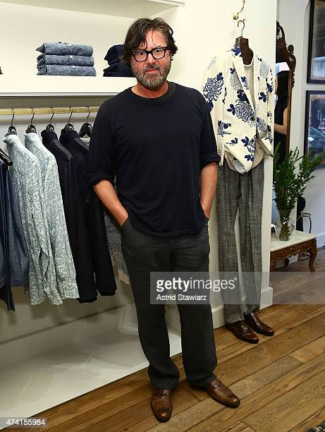 Fashion designer Billy Reid poses for photos during the Billy Reid celebration for Tony nominee Alex Sharp on May 20 2015 in New York City