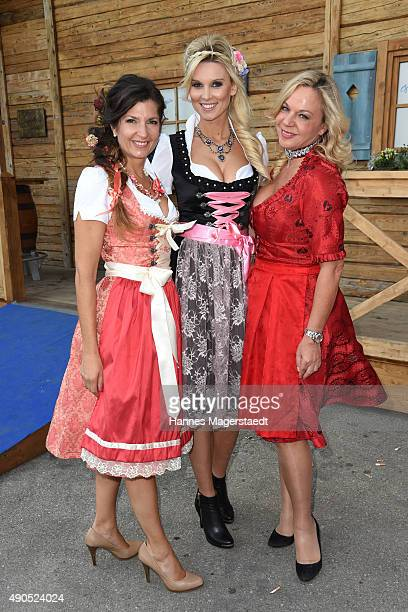 Fashion designer Birgit Backeler Katja Kuehne and Birgit FischerHoeper attend the Ladies Lunch at Fisch Baeda during the Oktoberfest 2015 at...