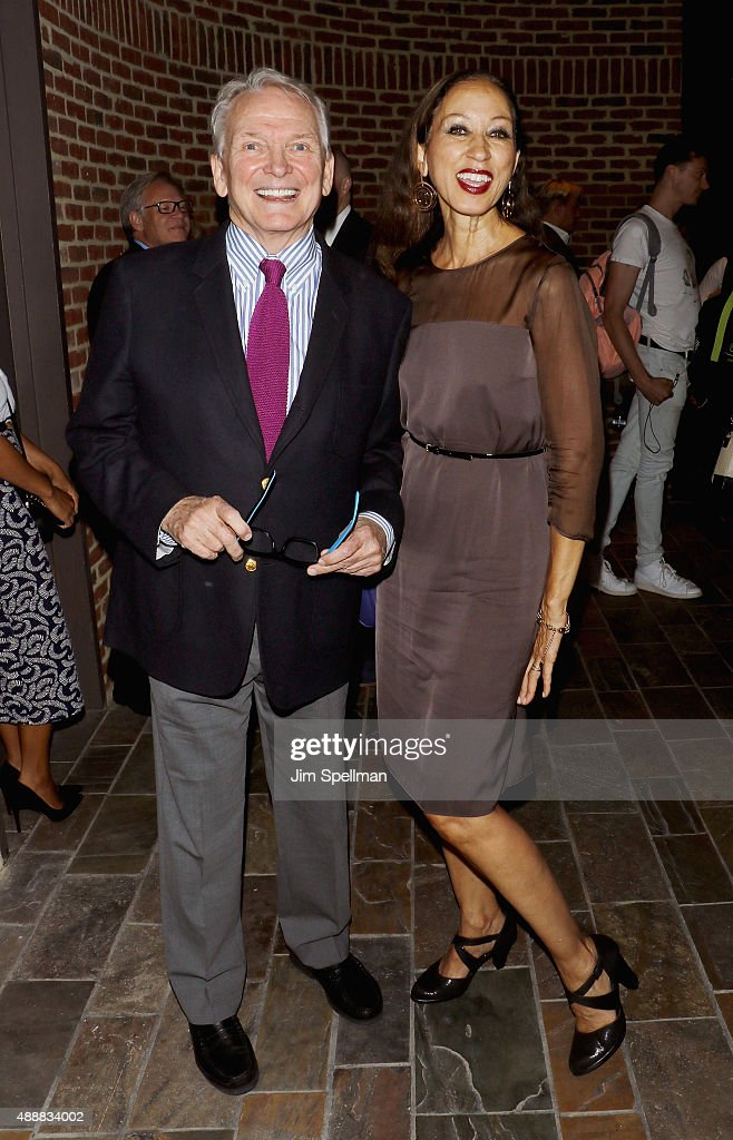 Fashion designer Bob Mackie and model Pat Cleveland attend 'The Carol Burnett Show: The Lost Episodes' screening hosted by Time Life and The Cinema Society at Tribeca Grand Hotel on September 17, 2015 in New York City.