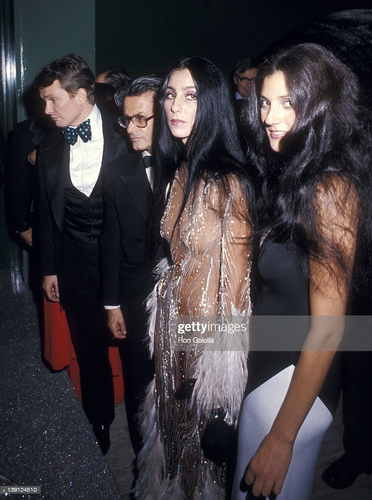 Fashion designer Bob Mackie photographer Richard Avedon singer Cher and her friend Paulette Betts attend The Metropolitan Museum of Art's Costume...