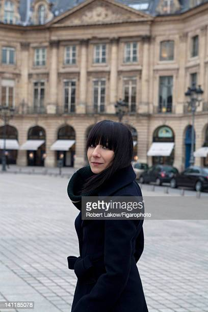 Fashion designer Bouchra Jarrar is photographed for Madame Figaro on February 3 2012 in Paris France PUBLISHED IMAGE Figaro ID 103222002 CREDIT MUST...