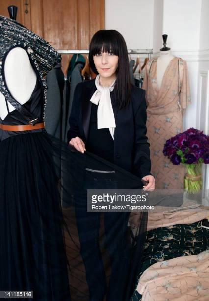 Fashion designer Bouchra Jarrar is photographed for Madame Figaro on February 3 2012 in Paris France PUBLISHED IMAGE Figaro ID 103222006 CREDIT MUST...