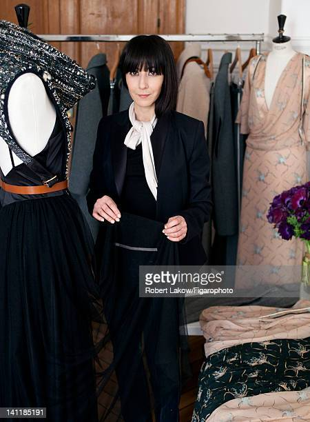 Fashion designer Bouchra Jarrar is photographed for Madame Figaro on February 3 2012 in Paris France Figaro ID 103222008 CREDIT MUST READ Robert...