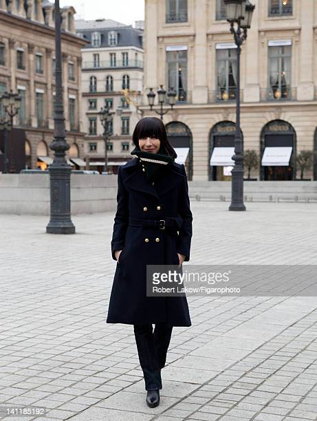 Fashion designer Bouchra Jarrar is photographed for Madame Figaro on February 3 2012 in Paris France Figaro ID 103222009 CREDIT MUST READ Robert...