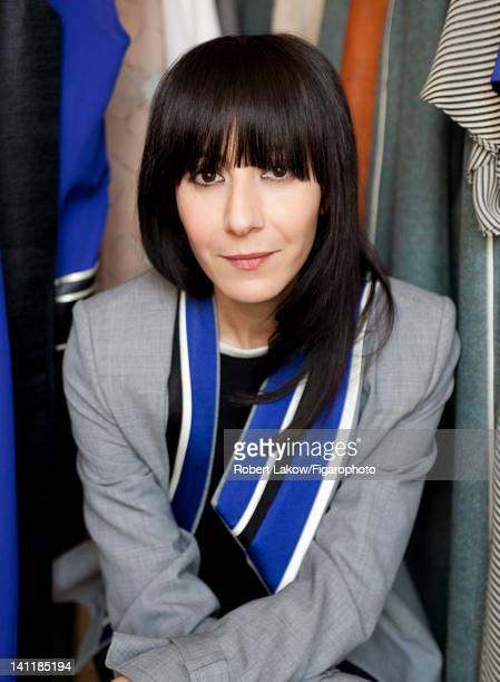 Fashion designer Bouchra Jarrar is photographed for Madame Figaro on February 3 2012 in Paris France Figaro ID 103222010 CREDIT MUST READ Robert...