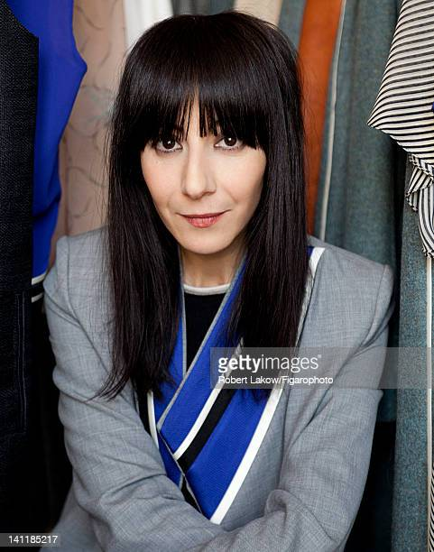 Fashion designer Bouchra Jarrar is photographed for Madame Figaro on February 3 2012 in Paris France Figaro ID 103222012 CREDIT MUST READ Robert...