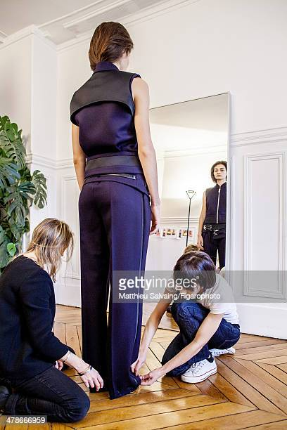 108876008 Fashion designer Bouchra Jarrar is photographed for Madame Figaro on January 19 2014 in Paris France PUBLISHED IMAGE CREDIT MUST READ...