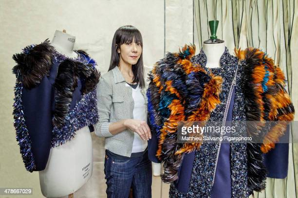 108876013 Fashion designer Bouchra Jarrar is photographed for Madame Figaro on January 19 2014 in Paris France CREDIT MUST READ Matthieu...