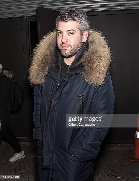 Fashion designer Brandon Maxwell is seen outside the Marc Jacobs Fall 2016 fashion show during new York Fashion Week at Park Avenue Armory on...