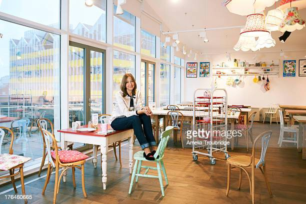 Fashion designer businesswoman and entrepreneur Cath Kidston is photographed for Red magazine on March 23 2013 in London England