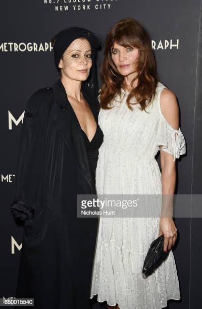 Fashion designer Camilla Staerk and Model Helena Christensen attend the Metrograph Theater 1st Year Anniversary Party at The Metrograph on March 8...