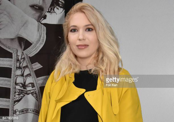 Fashion designer Camille Seydoux attends the Alexis Mabille show as part of the Paris Fashion Week Womenswear Fall/Winter 2017/2018 on March 2 2017...