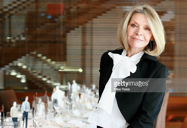 Fashion Designer Carla Zampatti attends the launch of the new Australia Post corporate uniform designed by Carla Zampatti at Aria Restaurant on...