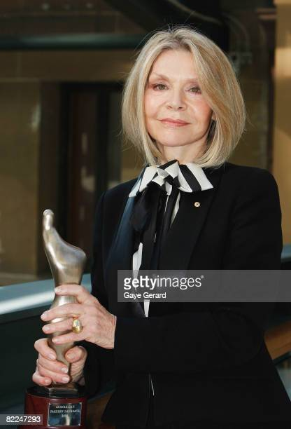 Fashion Designer Carla Zampatti wins the award for Australian Fashion Laureate 2008 in the Heritage Ballroom at the Westin Sydney on August 11 2008...