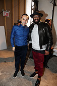 Fashion designer Carlos Campos and stylist Mike B attend the Carlos Campos New York Fashion Week Men's Fall/Winter 2016 presentation at Skylight at...