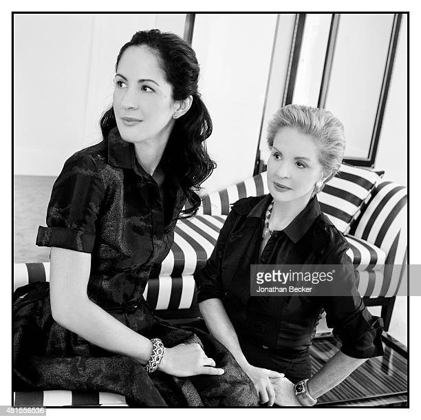 Fashion designer Carolina Herrera and daughter Patricia Lansing are photographed for Vanity Fair UK on April 16 2013 in New York City PUBLISHED IMAGE