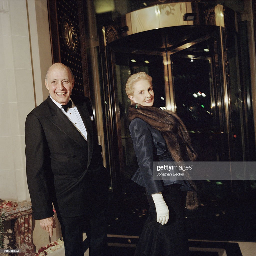 Fashion designer Carolina Herrera and husband Reinaldo Herrera are photographed at the Crillon Debutante Ball for Vanity Fair Magazine on November 22, 2012 in Paris, France. PUBLISHED