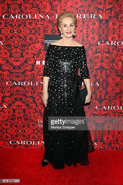 Fashion designer Carolina Herrera attends An Evening Honoring Carolina Herrera at Alice Tully Hall at Lincoln Center on December 6 2016 in New York...