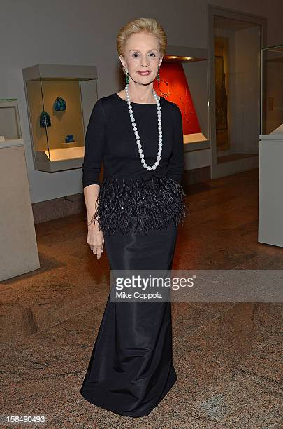 Fashion designer Carolina Herrera attends the 2012 Apollo Circle Benefit at the Metropolitan Museum of Art on November 15 2012 in New York City