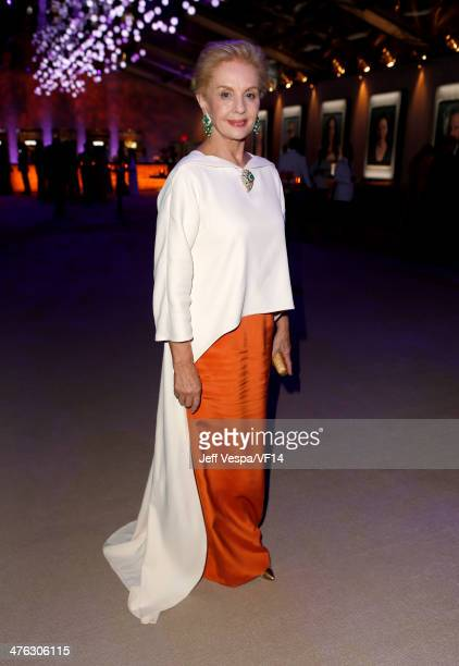 Fashion designer Carolina Herrera attends the 2014 Vanity Fair Oscar Party Hosted By Graydon Carter on March 2 2014 in West Hollywood California