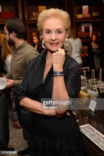 Fashion designer Carolina Herrera attends the Project Paz Benefit at the CH Carolina Herrera Store on March 18 2014 in New York City