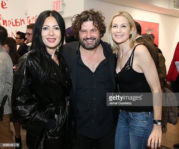 Fashion designer Catherine Malendrino artist Domingo Zapata and actress Kelly Rutherford attend Domingo Zapata's A Bullfighter In New York / Un...