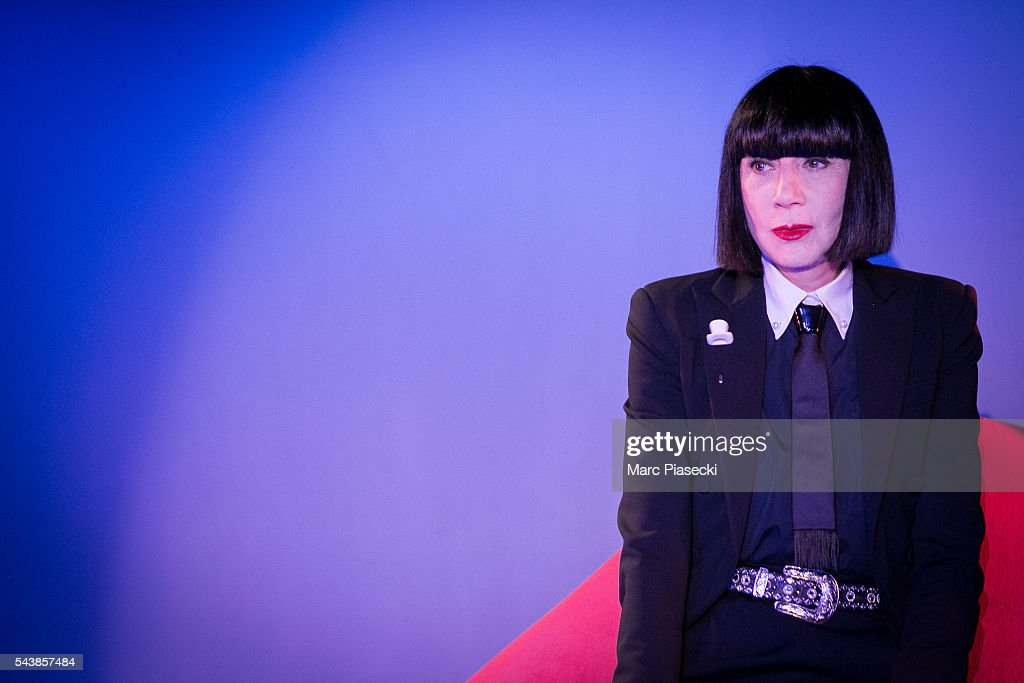 Fashion designer Chantal Thomass poses as the new collaborator for the next show 'Dessous Dessus' at Le Crazy Horse on June 30, 2016 in Paris, France.