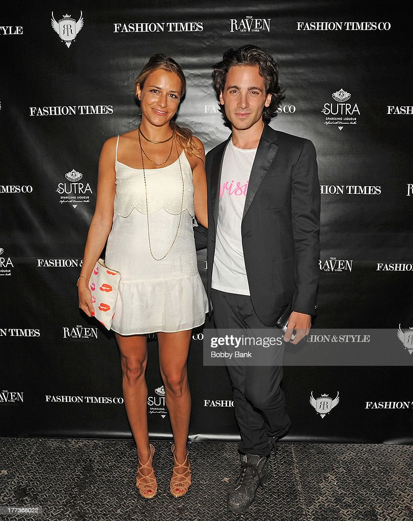 Fashion designer Charlotte Ronson and Fashion editor Gregory DelliCarpini Jr. attend Fashion & Style Launch at The Raven on August 22, 2013 in New York City.