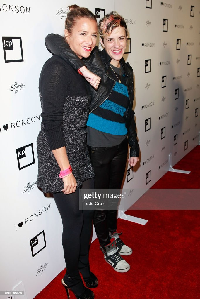 Fashion designer Charlotte Ronson and Samantha Ronson pose at the I Heart Ronson Holiday Party at The Bungalow on December 11, 2012 in Santa Monica, California.