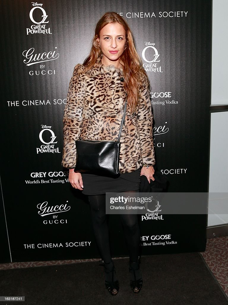 Fashion designer Charlotte Ronson attends the Gucci and The Cinema Society screening of 'Oz the Great and Powerful' at the DGA Theater on March 5, 2013 in New York City.
