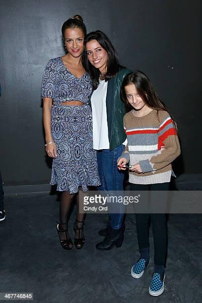 Fashion designer Charlotte Ronson fashion desinger Shoshanna Lonstein Gruss and her daughter Sienna Gruss attend the Charlotte Ronson Fall 2014...