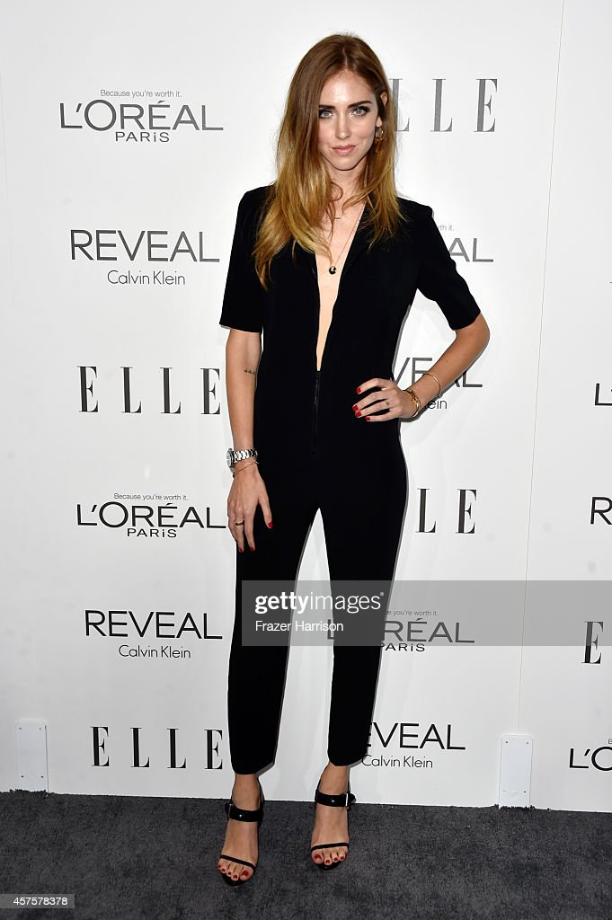 Fashion designer Chiara Ferragni arrives at ELLE's 21st Annual Women In Hollywood at Four Seasons Hotel Los Angeles at Beverly Hills on October 20...