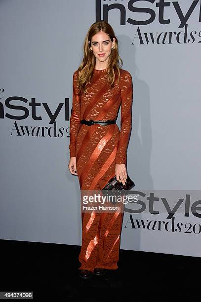 Fashion designer Chiara Ferragni attends the InStyle Awards at Getty Center on October 26 2015 in Los Angeles California